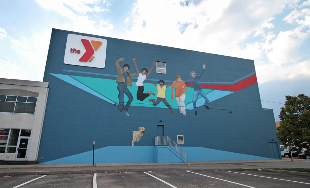color dreamers ymca mural pennsylvania