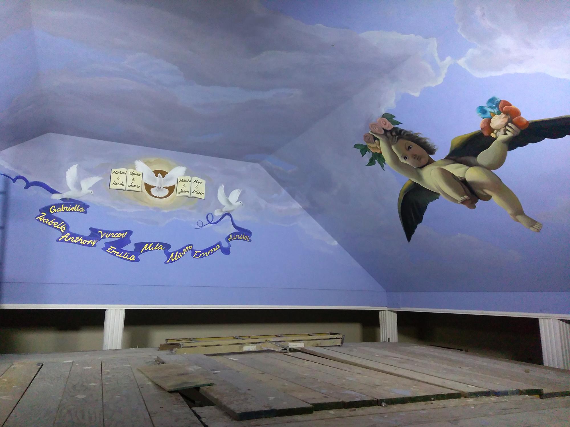 Cherub-Mural-Ceiling