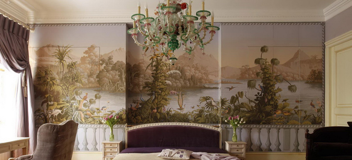 Chinoiserie murals the color dreamers for Chinoiserie mural wallpaper