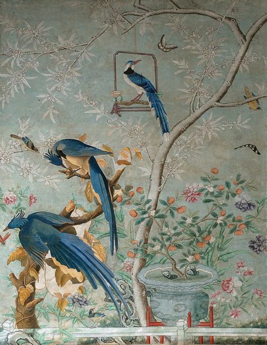 Chinoiserie murals the color dreamers for Definition of mural