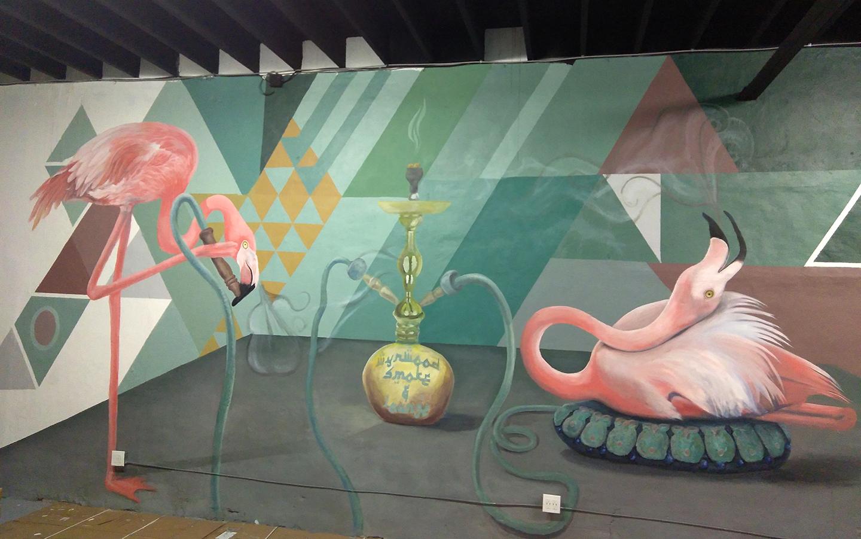 Flamingo's in Paradise
