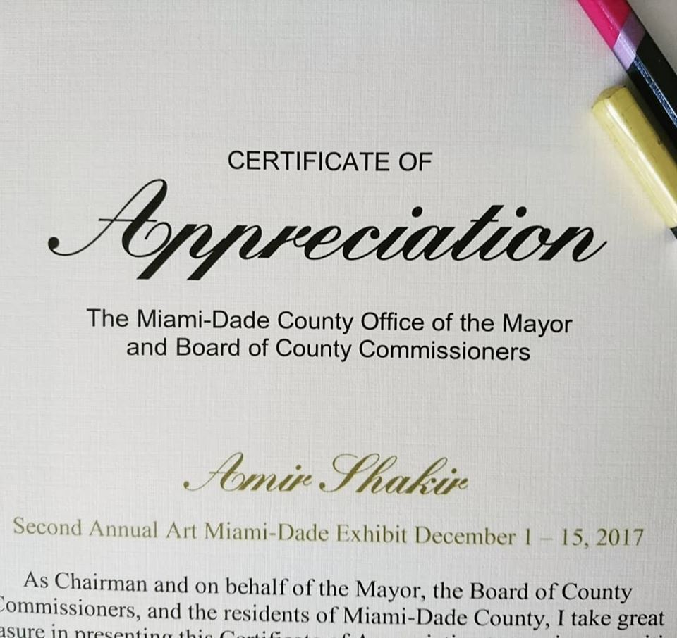 Color dreamers news blog miami mural artist duo the county of miami dade has honored our very own artist amir shakir with an honorary certificate of appreciation for art basel exhibition december 1 15 1betcityfo Image collections